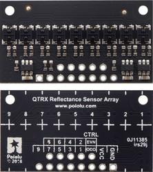 QTRX-HD-09A 9'lu Çizgi Algılama Sensörü (Sık Sensör Dizilimli) - Thumbnail