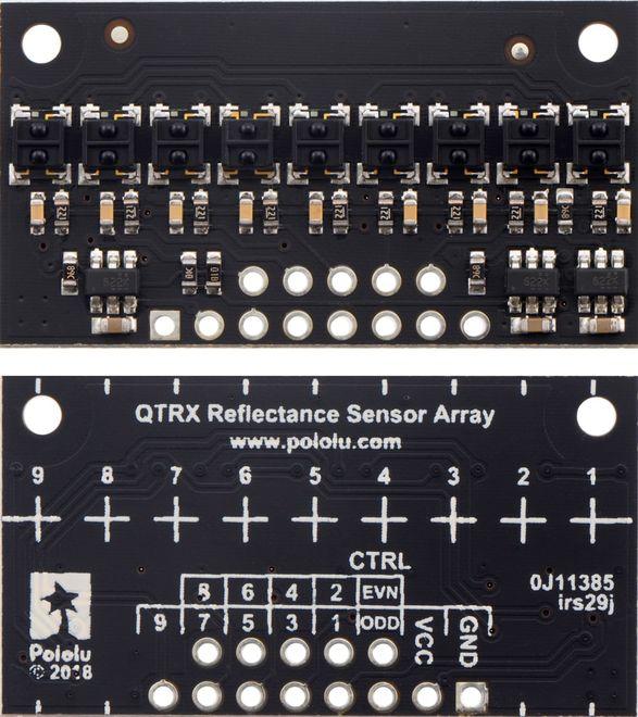 QTRX-HD-09RC 9'lu Çizgi Algılama Sensörü (Sık Sensör Dizilimli)