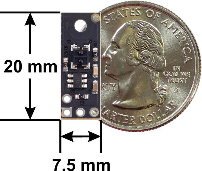 QTRX-MD-01RC 1'li Çizgi Algılama Sensörü (Seyrek Sensör Dizilimli)