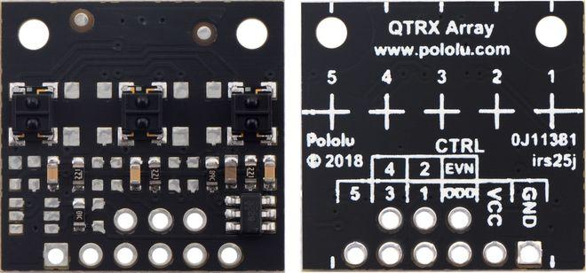 QTRX-MD-03RC 3'lü Çizgi Algılama Sensörü (Seyrek Sensör Dizilimli)