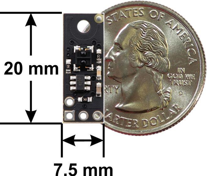 QTRXL-MD-01RC 1'li Çizgi Algılama Sensörü (Uzun Algılama Mesafesi) - Geniş PCB