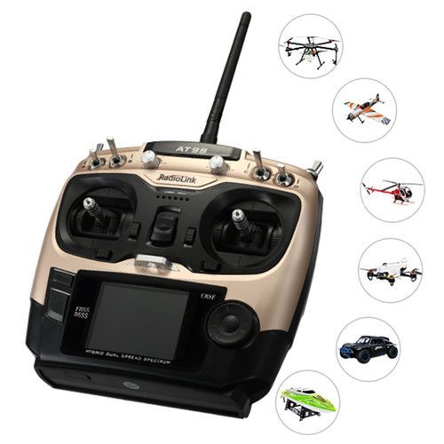 Radiolink AT9S Pro 2.4G 12CH DSSS FHSS Transmitter with R12DSM Receiver Compatible TBS Crossfire Module for RC Drone