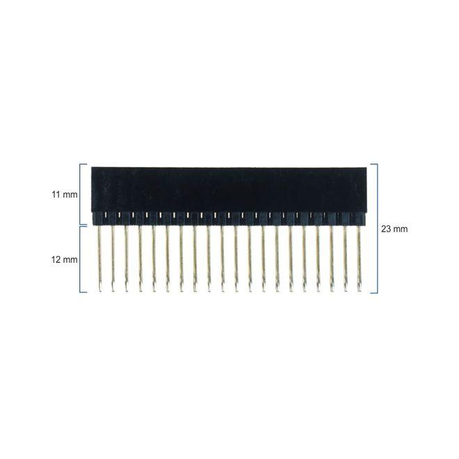 Raspberry Pi 2x20 Ekstra Uzun Header - Tek Sıra Yükseltici Parça