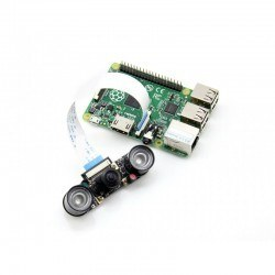 Raspberry Pi Kamera - Balık Gözü Lens + Kızılötesi Led Modülü (H) - Thumbnail