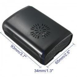 Raspberry Pi B+/2/3 Siyah, Fan Uyumlu Case - Thumbnail