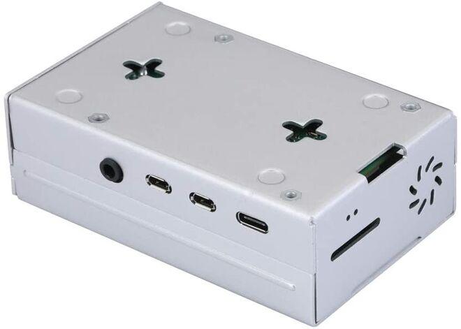 Raspberry Pi 4 Alüminyum Muhafaza Kutusu (Soğutmalı) - Gümüş Gri