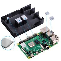 Raspberry Pi 4 Alüminyum Muhafaza Kutusu (Soğutmalı) - Siyah - Thumbnail