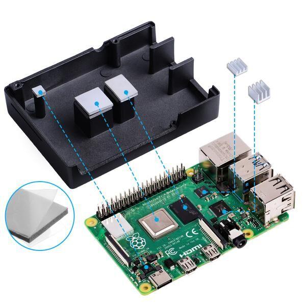 Raspberry Pi 4 Alüminyum Muhafaza Kutusu (Soğutmalı) - Siyah