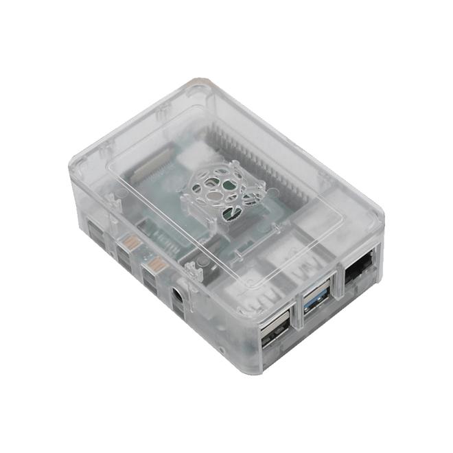 Raspberry Pi 4 Plastik Muhafaza Kutusu - Şeffaf (Raspberry Pi Logolu)