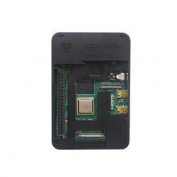 Raspberry Pi 4 Plastik Muhafaza Kutusu - Siyah (Raspberry Pi Logolu) - Thumbnail