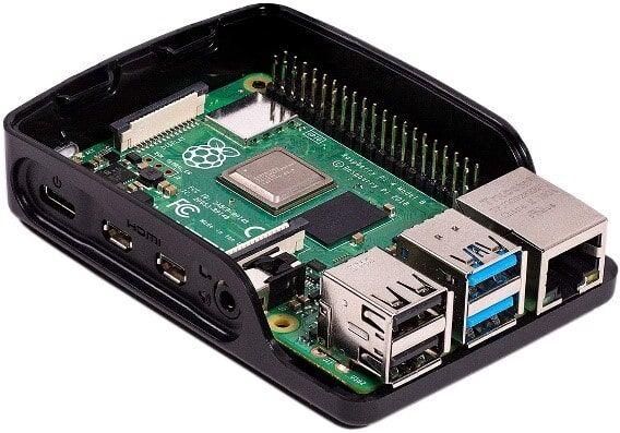 Raspberry Pi 4B Muhafaza Kutusu - Siyah (Klon)