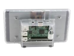 Raspberry Pi 7 Inch Dokunmatik Ekran Kutusu - Şeffaf - Thumbnail