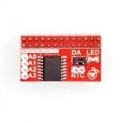 Raspberry Pi B/A+/B+/2/3 AD / DA Extension Board - Thumbnail