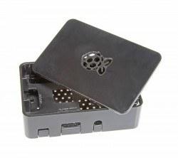 Raspberry Pi B+/2/3 Siyah Muhafaza Kutusu - Pi 2/B+ Black Case - Thumbnail
