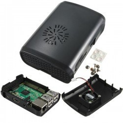 Raspberry Pi B+/2/3 Black, Fan Compatible Case - Thumbnail
