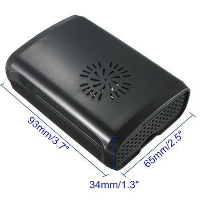 Raspberry Pi B+/2/3 Black, Fan Compatible Case