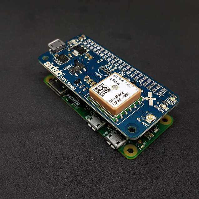 Sixfab Raspberry Pi GPS Shield Satın Al | Robotistan com