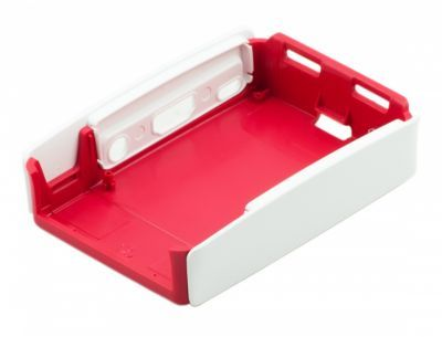 Raspberry Pi B+/2/3 Orijinal Muhafaza Kutusu - Beyaz, Kırmızı