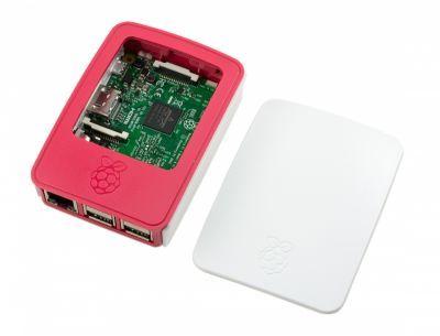 Raspberry Pi Orijinal Muhafaza Kutusu - Beyaz, Kırmızı