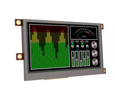 Raspberry Pi 4.3 Inch Dokunmatik LCD Modül Kiti - SK-43PT-PI