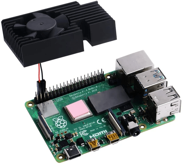 Raspberry Pi 4B/3B/3B+ (B Plus) İçin Alüminyum Soğutma Kiti