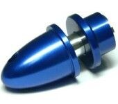 China - RC Model 4mm Hole Blue Metal Propeller Adapter