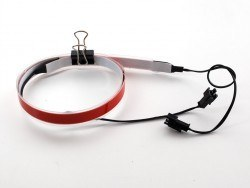Red Electroluminescent (EL) Tape Strip - 100cm w/two connectors - AF445 - Thumbnail