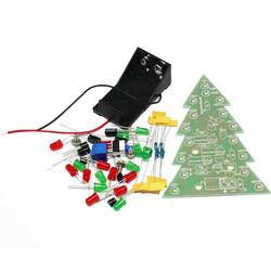 Robotistan - Renkli Işıklı Yılbaşı Çam Ağacı Kiti - Christmas Flash Led Electronic DIY Learning Kit