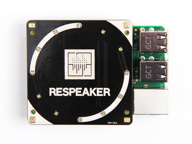 ReSpeaker 4'ü Kare Mikrofon Kiti (Raspberry Pi İçin)
