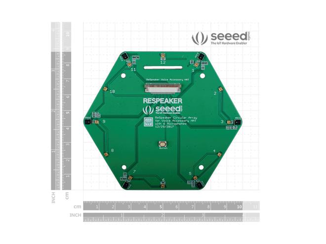 ReSpeaker 6'lı Mikrofon Kiti (Raspberry Pi İçin)