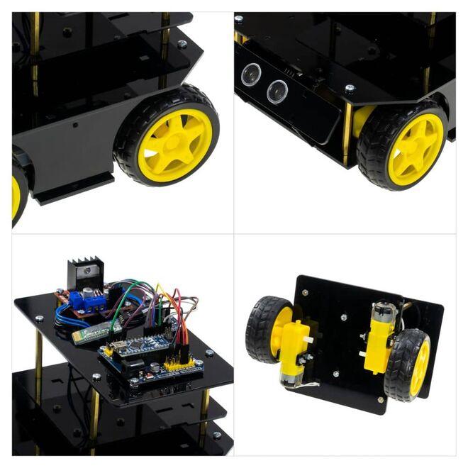 R.E.X Evolution Serisi Survivor Robot Kiti - 4 in 1 (mBlock5 ve Arduino IDE Uyumlu) - E-Kitap Hediyeli