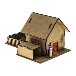 R.E.X Woody Serisi D.I.Y Ahşap Ev Seti - Elektronikle Tanışıyorum (Boyanabilir) - STEM - Thumbnail