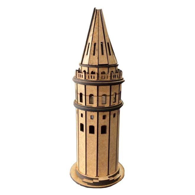 R.E.X Woody Serisi D.I.Y Galata Kulesi (Galata Tower) - Boyanabilir - STEM