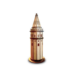 R.E.X Woody Serisi D.I.Y Galata Kulesi (Galata Tower) - Boyanabilir - STEM - Thumbnail