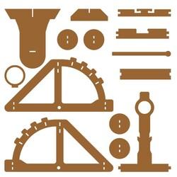 R.E.X Woody Serisi D.I.Y Mancınık (Catapult) - Boyanabilir - STEM - Thumbnail