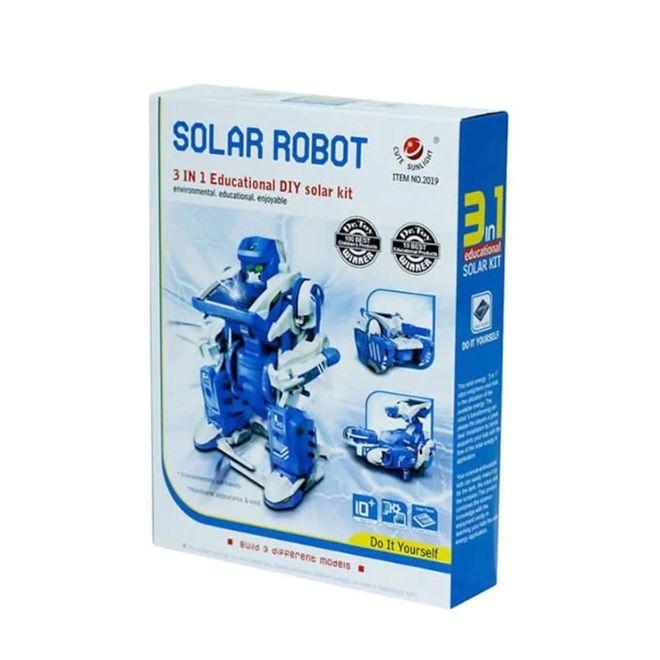 Robosol-D 3'lü Güneş Enerjili Eğitim Robotu