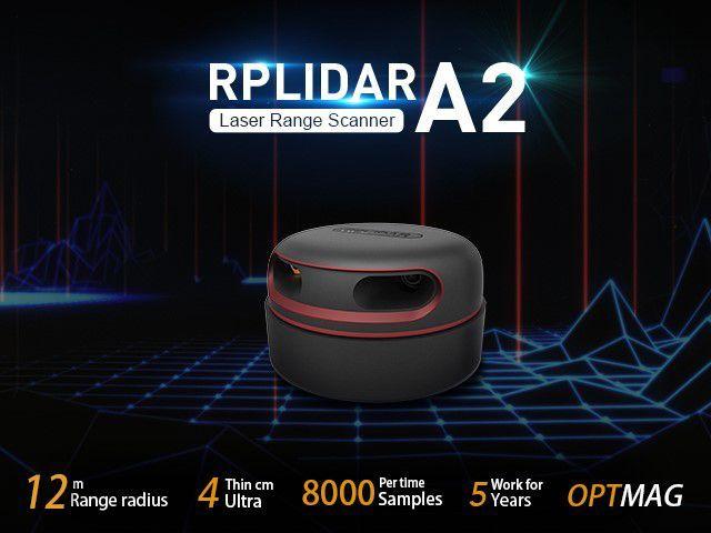 RPLiDAR A2M8 360 Derece Lazer Tarayıcı Set - 12 Metre Menzilli