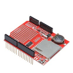 RTC + SD Kart Data Logger Shield (Arduino Uyumlu) - Thumbnail