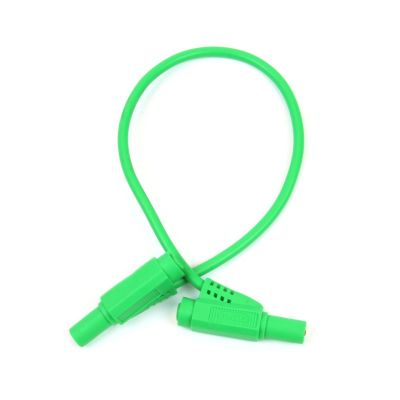 Safety Protected Banana Plug - Green, 25cm, 4mm