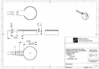 Şaftsız Titreşim Motoru 10x3 mm