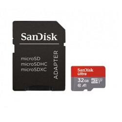 SanDisk - SanDisk 32 GB microSD Mermory Card + SD Adaptor Up to 98 MB/s