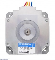 Sanyo Pancake Stepper Motor: Bipolar, 200 Steps/Rev, 50×16mm, 5.9V, 1 A/Phase - Thumbnail