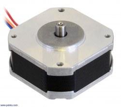 Image of Sanyo Pancake Stepper Motor: Bipolar, 200 Steps/Rev, 42×18.6mm, 5.4V, 1 A/Phase