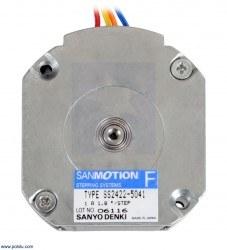 Sanyo Pancake Stepper Motor: Bipolar, 200 Steps/Rev, 42×18.6mm, 5.4V, 1 A/Phase - Thumbnail