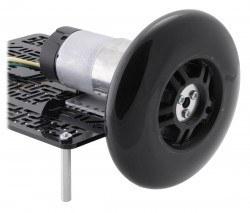 Scooter/Kaykay Tekerleği - 100x24 mm, Siyah - PL3278 - Thumbnail