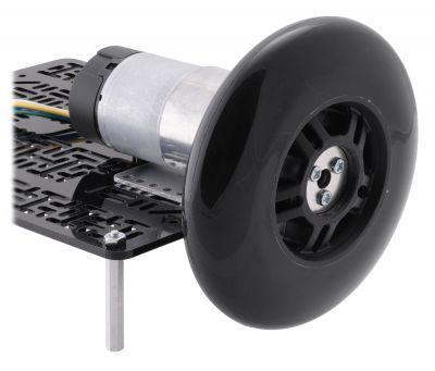 Scooter/Kaykay Tekerleği - 100x24 mm, Siyah - PL3278