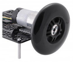 Scooter/Kaykay Tekerleği - 70x25 mm, Siyah - PL3272 - Thumbnail
