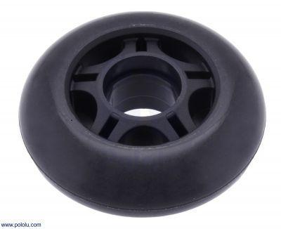 Scooter/Kaykay Tekerleği - 70x25 mm, Siyah - PL3272