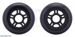 Scooter/Skate Wheel 84×24mm - Black - PL3275 - Thumbnail