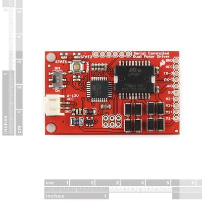 Seriial Controlled Motor Driver Board